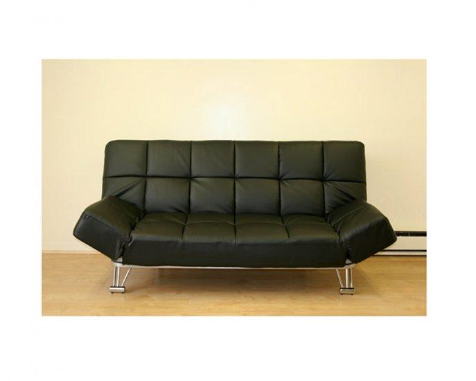 jm uptown 203 764 leatherette black klick klack futon sofa bed uptown 203 764. Black Bedroom Furniture Sets. Home Design Ideas