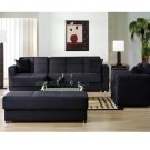 SS Elegant // Sectional in Microfiber Black by Istikbal/Sunset