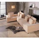 WSI-CF-118 //  Andre Microfiber Sectional Sofa / Low Backs /