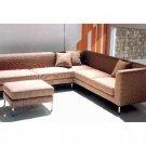 WSI-CF-46 //  Cocoa Sectional Sofa Set with Ottoman