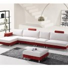 Eho-S394 // Five Pieced Microfiber Sectional with Ottoman