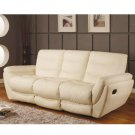 Comfortable Cream Leather Sofa With Adjustable Footrest Lotus  // CR-Lotus
