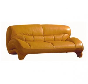 Contemporary 2-tone 1-2 Genuine Leather Sofa Francesca   // ESF-521