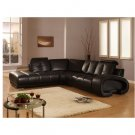 CR-VE Bentley // Bentley Black Leather Modern Design Luxury Sectional
