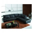 Eho-sbo4023  //  Bertino Italian leather Sectional w/ Polished Oak Legs