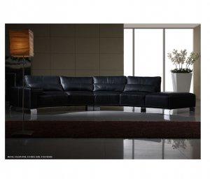 ESF-M109  //  Black Premium Leather Living Room Nondo M109 Sectional