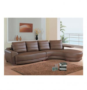 GF - 717SEC  //   Brown Leather '717' Leather Sectional