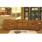 ESF-003  //  Modern Brown Color Recliner Sectional with Cup Holders