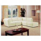 C_500894  // White Bonded Leather Sectional