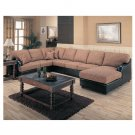C_501751R(L)-501751AC  //  Everett Bicast Brown Right Corner Chaise Sectional