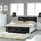 Vegas Bedgroup Set in White Lacquer Finish