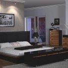 Tamara Contemporary Wenge Finish Bedroom Set
