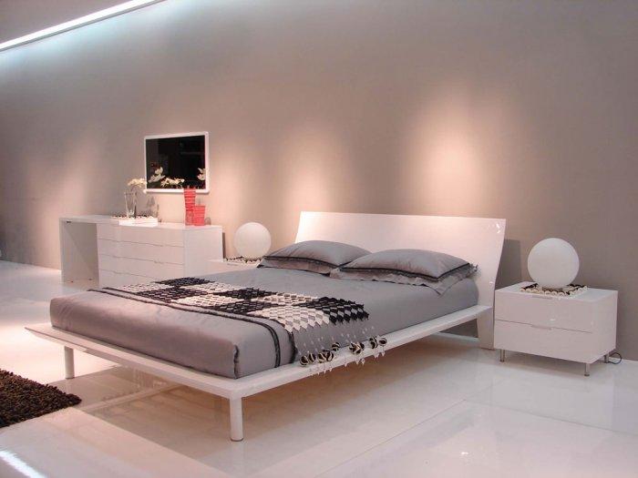 sofia modern white lacquer finish bedroom set