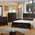 New York Stylish Wenge Modern Bedroom Set