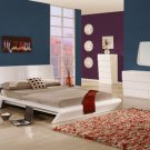 Modern Style White Shiny Rectangular Headboar Bedroom