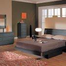 Matt Finished 5 Piece Bedroom Set Toscana w/ Decorative Lighting