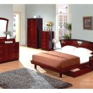 Marsala Modern Mahogany Finish Bedroom Set (Full/Queen/King)