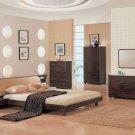 Graceful Rio Bedroom Set - Wenge Gentle Curved Platform Bed
