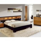 Glossy Bedroom Set with Platform Bed Sal Collection