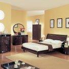 Emily Modern Bedroom set in Wenge finish