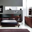 Dark Color Contemporary Bedroom Set Benicarlo