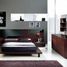 Dark Color Contemporary Bedroom Set Benicarlo