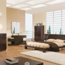 Dark Brown Modern Style Platform Soho Bedroom Set
