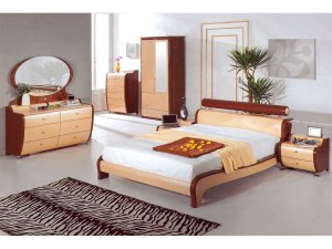 Comiso Modern European Style Bedroom Set