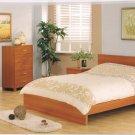 Aurora Modern Wooden Bedroom Set w/ Metal Accents