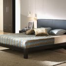 ESF-Madrid  //  Modern Style Brown Leather Headboard Platform Bed Madrid