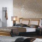 JM-Jenny // Jenny Chocolate Leather Modern Platform Bed