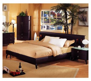 ESF-G007  //  Modern European Style Platform Bed No G007 with Color Options