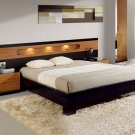 ESF-SAL //  Platform Bed with Wide Headboard Sal Collection