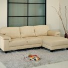 CI-1195-CRM  //  Capri Microsuede Sectional in Cream