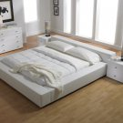 ML-MD309  //   Prince Modern Design Bed in White or Chocolate Leatherette