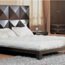 GF-Milena  //  Stylish Milena Wenge or Mahogany Modern Bed w/ High Headboard