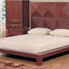 GF-Milena // Stylish Milena Wenge or Mahogany Modern Bed w/ High Headboard