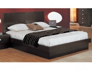 CR-Onix // Wenge Colored Storage Platform Bed Onix Collection by Creative