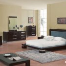 B99 Contemporary Queen Bedroom Set in WENGE and WHITE Finish By Global Furniture