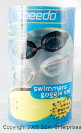 Speedo Adult Goggles 1 pair of Zentra 1 Pair of SG-125 Goggles NIB