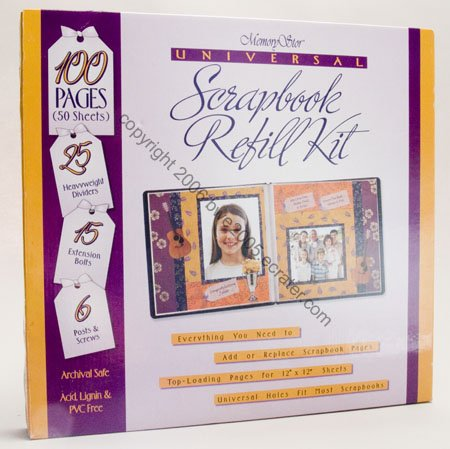 Scrapbook 100 Pages 50 Sheet 12x12 Paper Refill  12 x 12 Pages Scrapbooking Craft  NIB