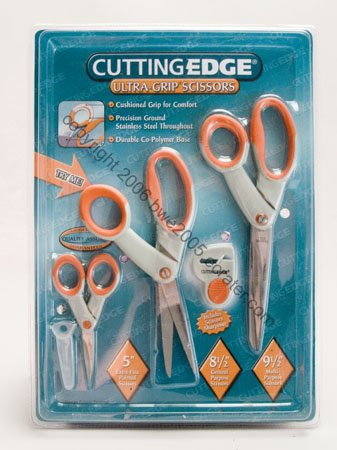 Scissors 3 Cushioned Handle Soft Grip Scrapbook Sewing Hobby Craft NIB