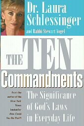 The Ten Commandments Dr. Laura Schlessinger HB DJ Religion Morality Christianity Jewish
