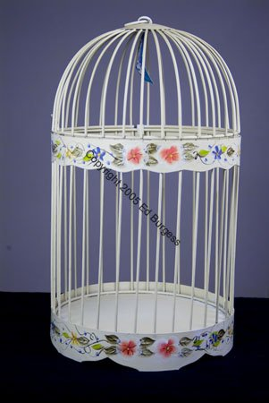 Birdcage Interior Decor Round NEW for silk plants decoration Home Bird Cage