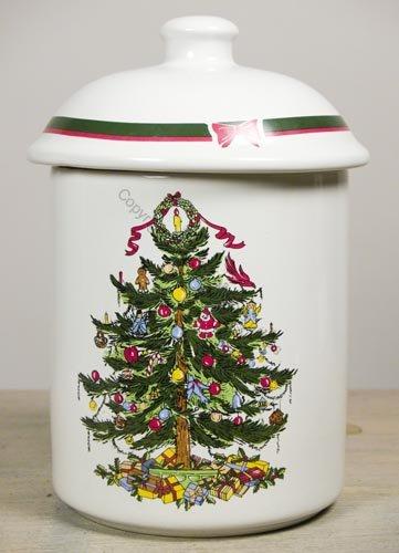 Christmas Ribbon Tree Holiday Cookie Jar Christmas Season
