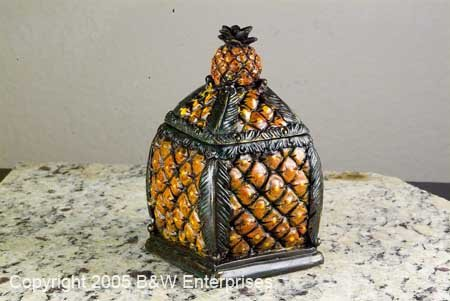 Storage Box Pineapple shape Jewelry Rings Beautiful Dresser Box
