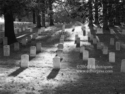 """Days End"" Arlington National Cemetary Washington Fine Art Photo Military Eddie Burgess"