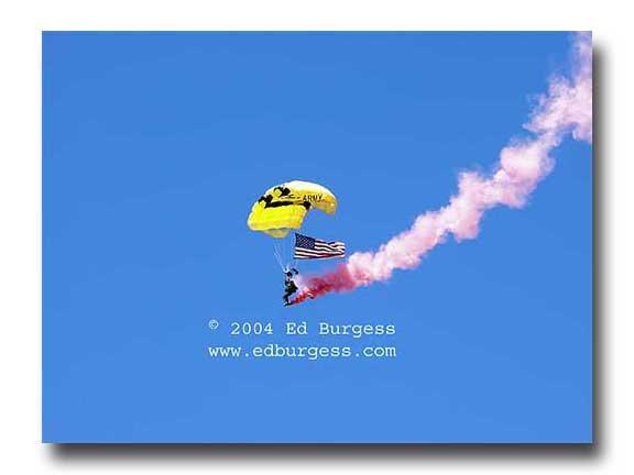 """Aerial Descent"" Army Ranger Parchute Military Art Photo Print Decor"
