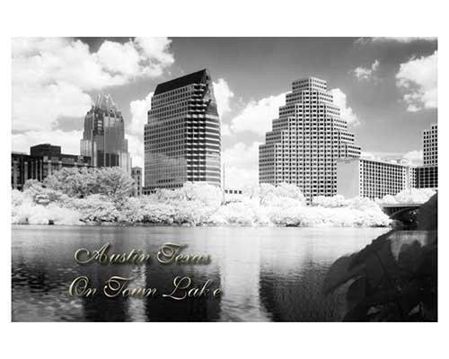 """""""Austin Texas on Town Lake"""" Infrared City Austin Texas Landscape Fine Art Photo"""