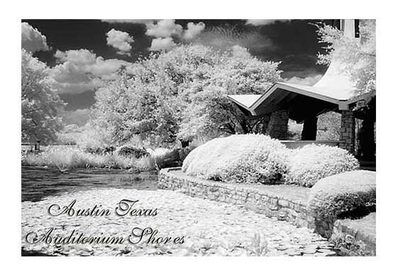 """Auditorium Shores #2 "" Infrared Photo Austin Texas Landscape Fine Art Photo"